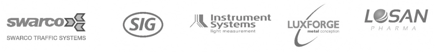 logos planta kunden swarco sig instrument systems luxforge losan